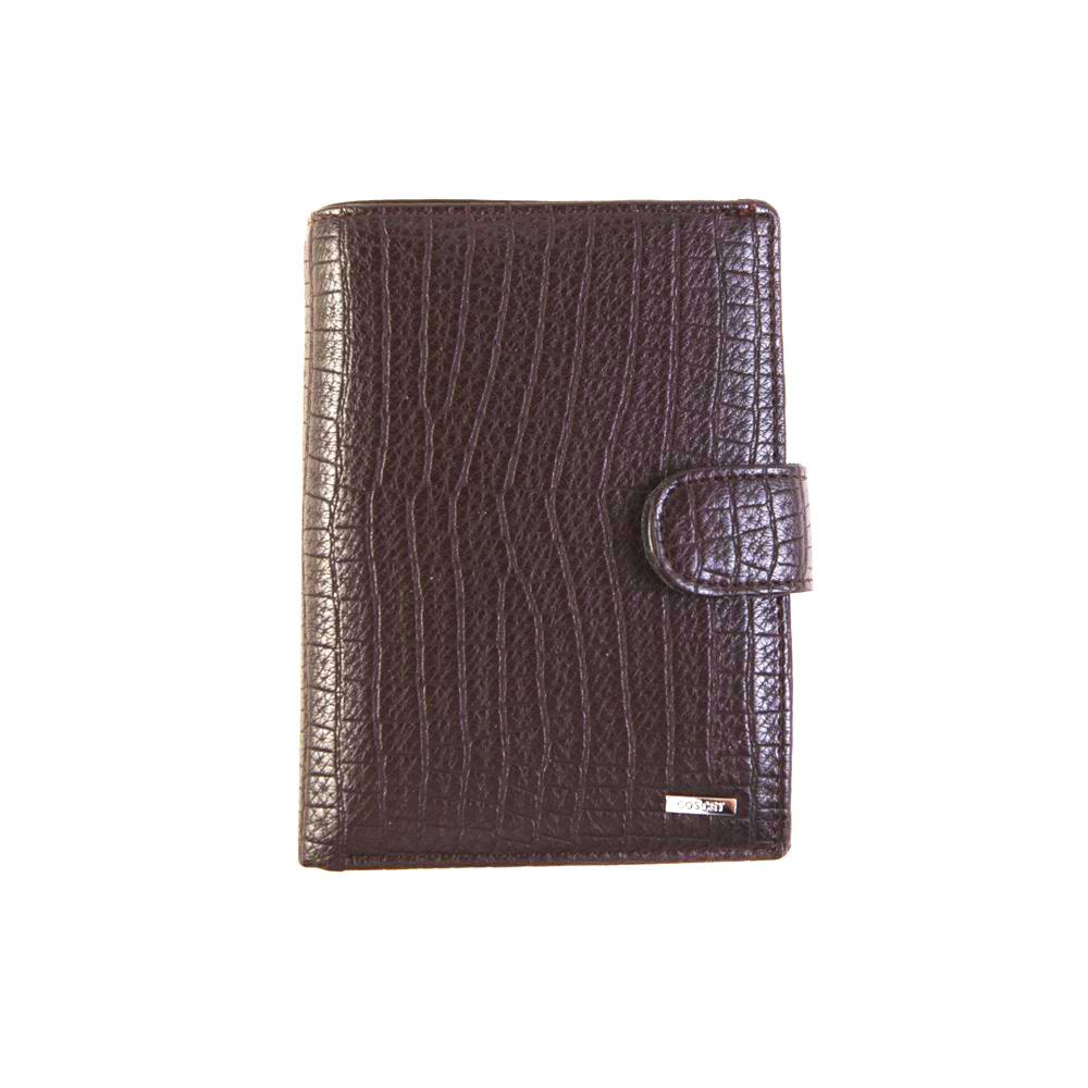 Портмоне + автодокументы + паспорт из искусственной кожи коричневое Cosсet B442-08B