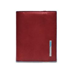 Чехол для кредитных/визитных карт Piquadro Blue Square, красный, 8,8x10,5x1,2 см