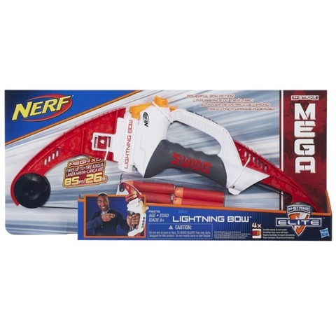 Hasbro: Nerf Легкий Лук Mega A6276  —Nerf N-Strike Elite Mega Lightning Bogen — Нерф Нёрф Хасбро
