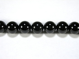 Бусина из шпинели черной, шар гладкий 8мм