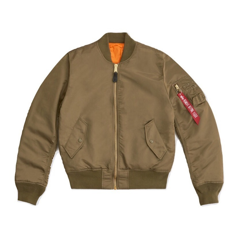 Куртка бомбер Alpha Industries Slim Fit MA-1 Vintage Olive