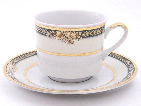 Набор чашек высоких с блюдцами 0,20 л 4 штуки Сабина Leander