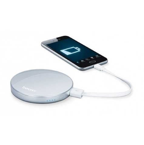 Зеркало карманное с подсветкой и зарядкой для телефона