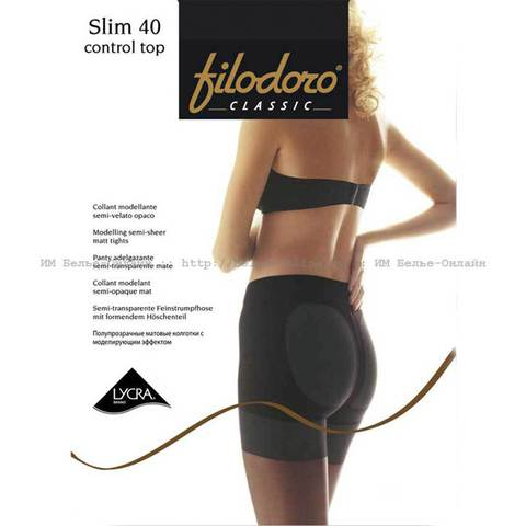Колготки Slim 40 Control Top Filodoro