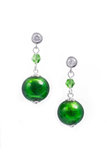 Серьги Perla Appeso Argento зеленые