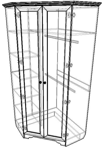 Угловой блок № 1 Шкаф угловой + Пенал с правой стороны Классика