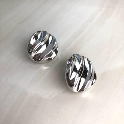 Серьги Аливио, серебряный цвет