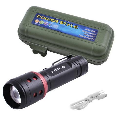 Ф.ручной Police 505-XPE+COB, zoom, встроенный аккум., ЗУ USB