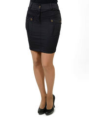 5509-1 юбка темно-коричневая