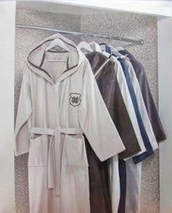 LELONOR - ЛЕЛОНОР махровый  мужской халат  с капюшоном Maison Dor Турция