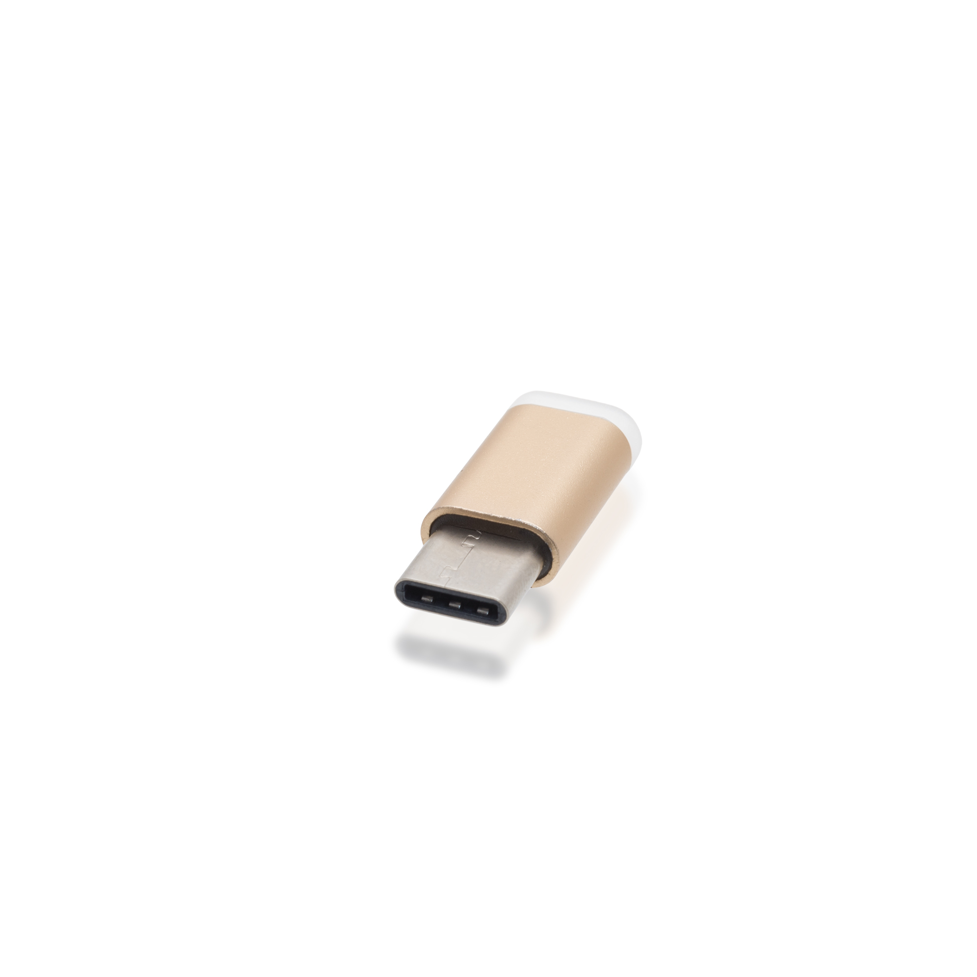 Адаптер Brosco micro USB - Type-C, золотой
