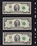 Коллекция из 2 долларовых банкнот 2003 г. 12 банков эмитентов
