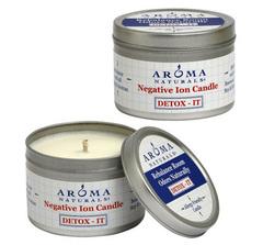 """Свеча из пчелиного воска """"Детокс"""" отрицательные ионы, Aroma Naturals"""