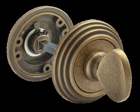 Фурнитура - Завёртка  Rucetti RAP-CLASSIC-L WC OMB, цвет старая античная бронза