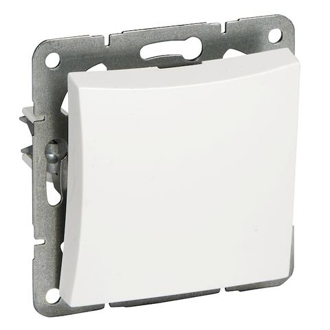 Выключатель одноклавишный с подсветкой (схема 1) 10 АХ 250 В. Цвет Белый. Schneider Electric(Шнайдер электрик). Duet(Дует). WDE000111
