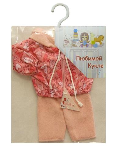 Костюм с курткой - Розовый. Одежда для кукол, пупсов и мягких игрушек.