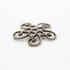 Винтажный декоративный элемент - шапочка филигранная 13 мм (оксид латуни)