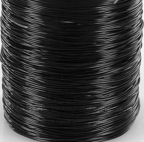 Леска для бисера и бусин, 0,4 мм, цвет - черный, примерно 30 м