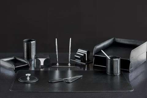 Набор настольный 11 предметов из кожи Bologna цвет Black