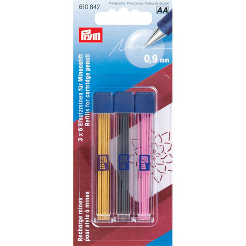 Запасные грифели для механического карандаша 0,9мм PRYM 610842