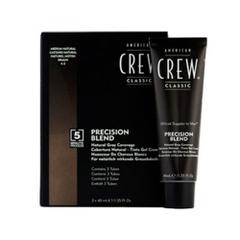 Краска для седых волос натуральный оттенок American Crew Precision Blend 4/5 3*40 мл