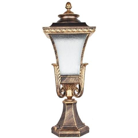 Светильник садово-парковый, 60W 230V E27 IP44 черное золото, PL4023 (Feron)