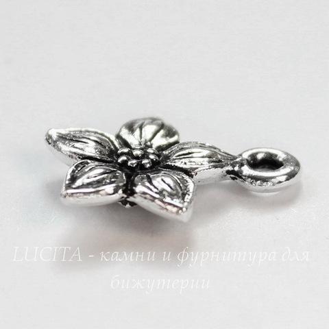 "Подвеска TierraCast ""Жасмин"" (цвет-античное серебро) 14х12 мм"