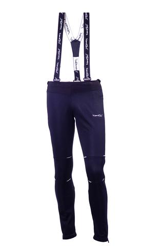 Детские разминочные лыжные штаны-самосбросы Nordski Premium (NSM305100) черные
