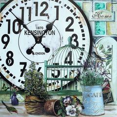 Декоративные часы - панно.