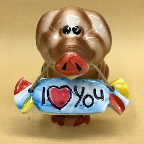 Хрюн с конфетой I love you