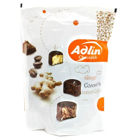Пишмание со вкусом имбиря, какао и кофе в шоколадной глазури, Adlin, 350 г