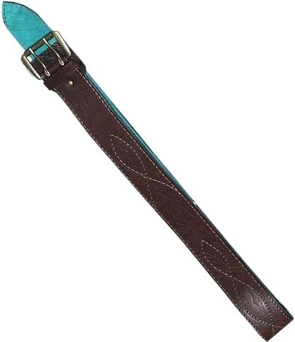 Ремень офицерский элитный коричневый 50мм кожа/велюр большой