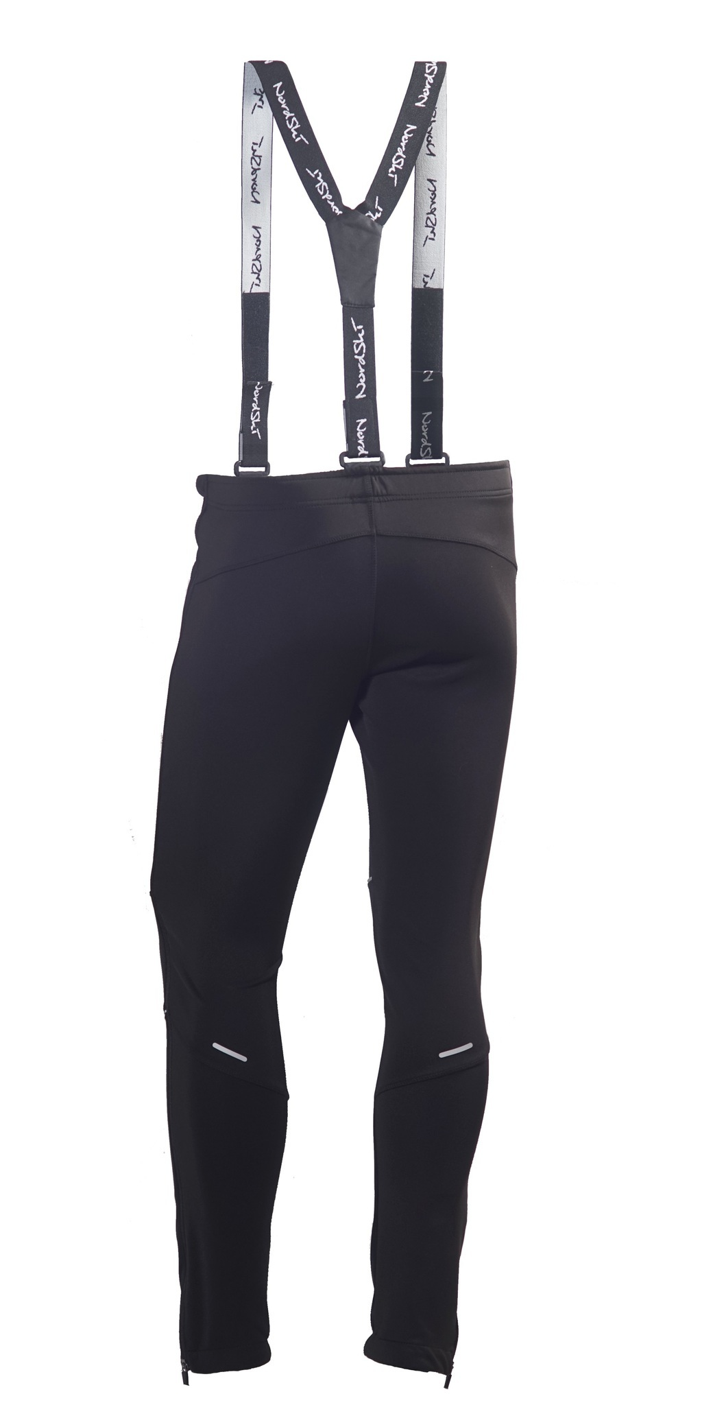 Детские разминочные лыжные штаны-самосбросы Nordski Premium (NSM305100) черные фото