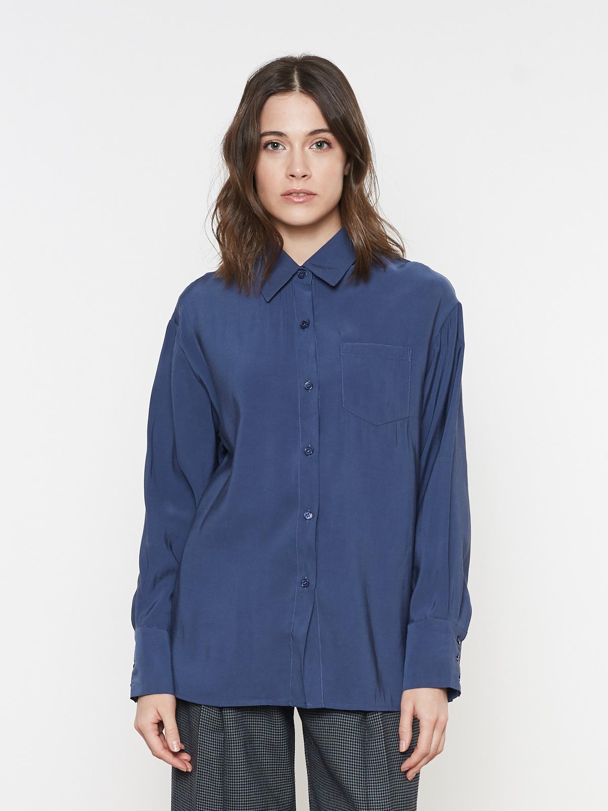 Рубашка широкая с карманом