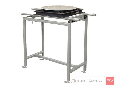 Выдвижной стол для пескоструйной камеры 800 мм поворотный