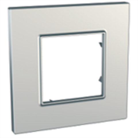 Рамка на 1 пост. Цвет Серебро. Schneider Electric Unica Quadro. MGU6.702.55