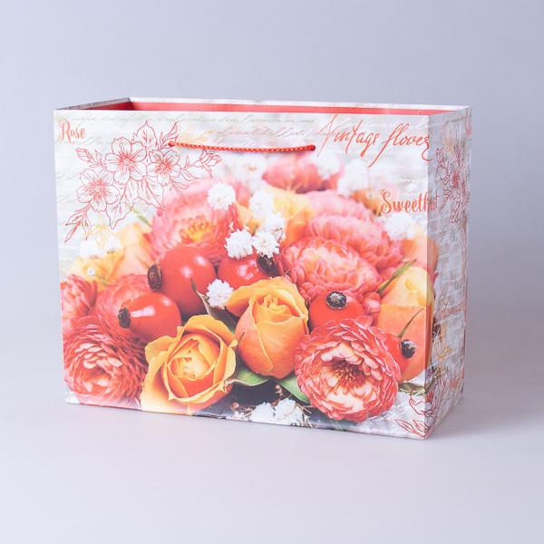 Пакет подарочный бумажный 22,5*18*10см, 640296-6