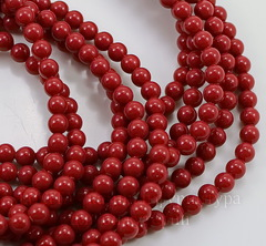 5810 Хрустальный жемчуг Сваровски Crystal Red Coral круглый 4 мм, 10 штук