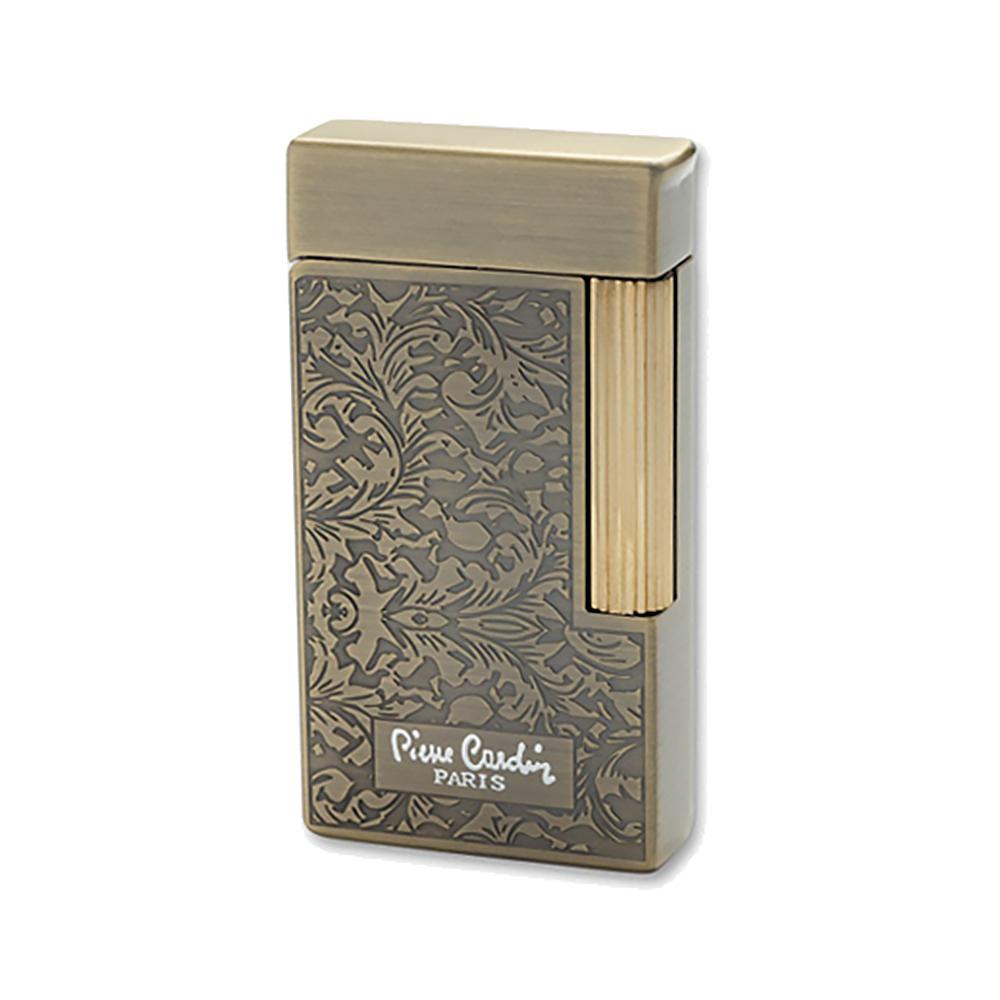 Зажигалка Pierre Cardin кремниевая газовая, цвет бронза с гравировкой, 3,4х1,2х6,4см