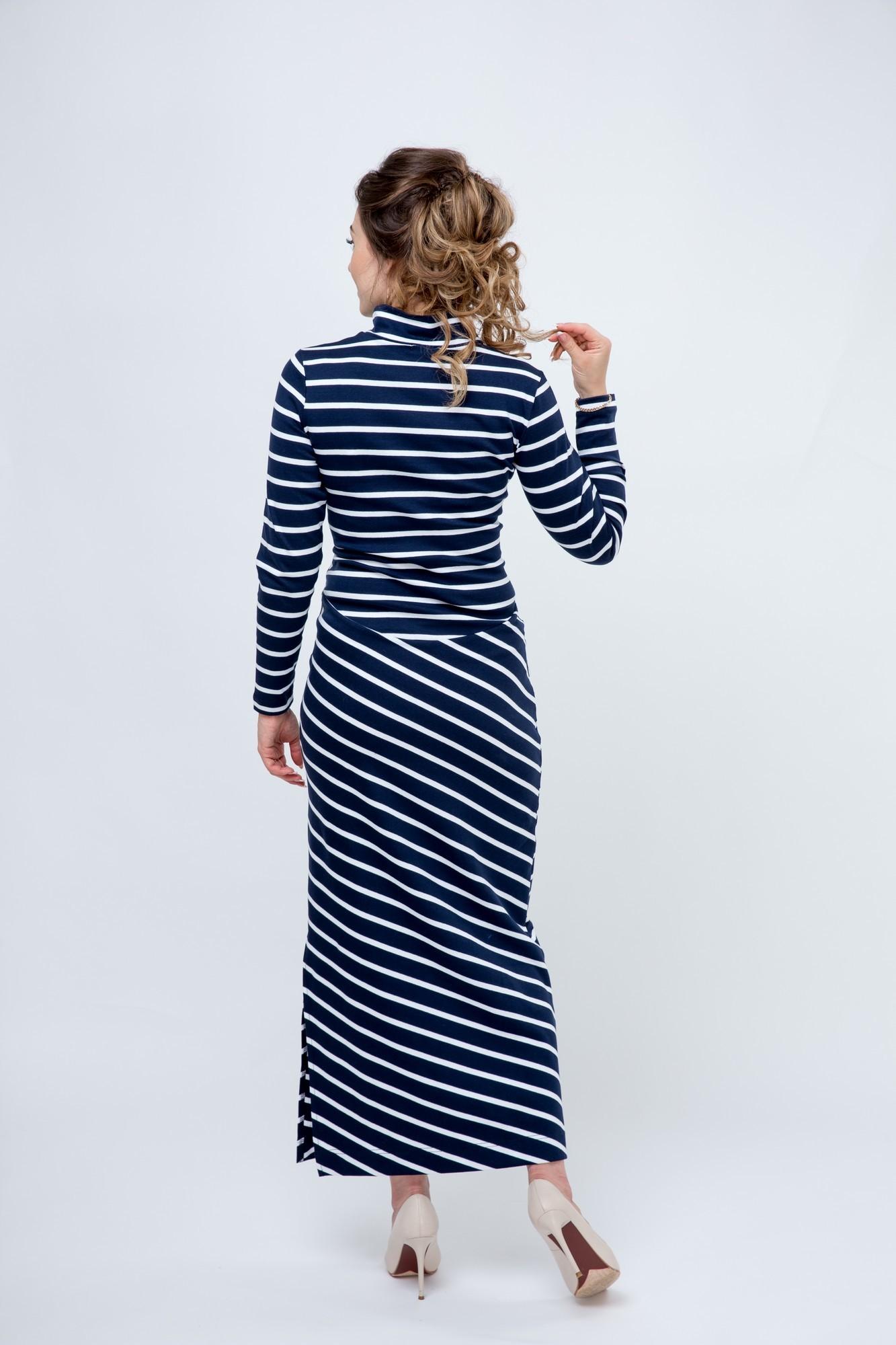 Платье 09181 синий