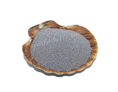 Серебристый цветной песок 300 гр.