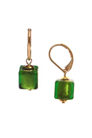 Серьги Perla Piccolo Cubo зелёные