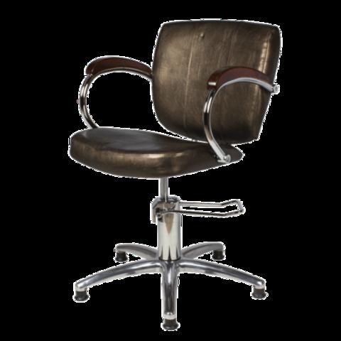 Кресло Соло коричневое гидравлика хром пятилучье
