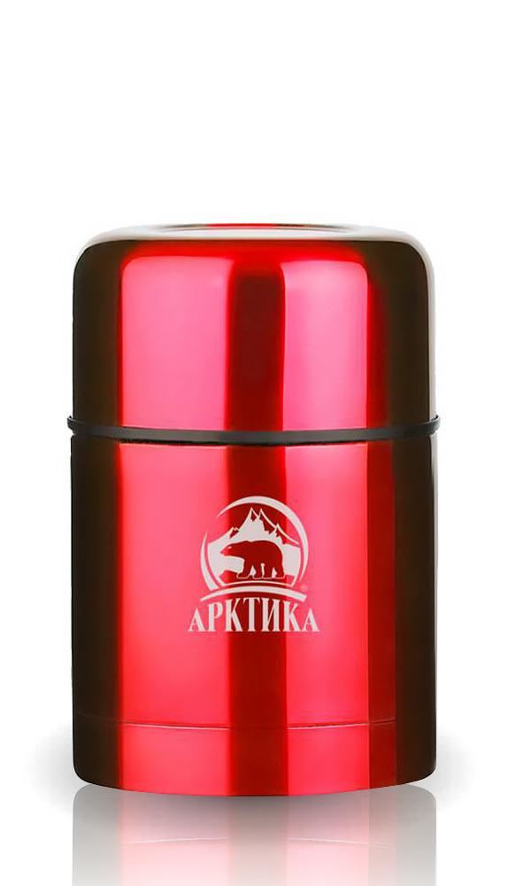 Термос для еды Арктика (0,5 л.) с супер-широким горлом, красный*