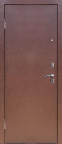 Стальная дверь Сибирь S-4, 1 замок, 1,2 мм  металл (медь+миланский орех)