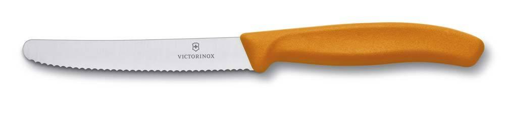 Нож Victorinox с волнистым лезвием, оранжевый (6.7836.L119)