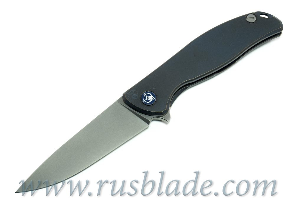 Shirogorov Flipper 95 М390 Blue Anod
