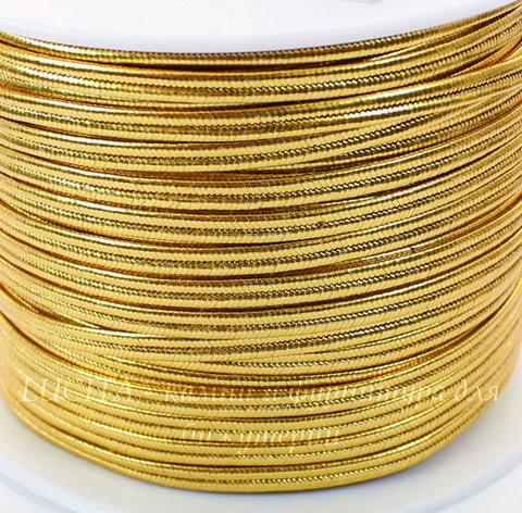 Сутаж, 4х1 мм, цвет - золото, примерно 1 м