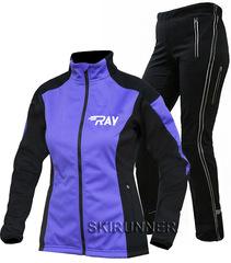 Утеплённый лыжный костюм RAY Pro Race WS Run Purple-Black женский