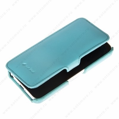 Чехол Melkco для iPhone SE/ 5s/ 5C/ 5 Leather Case Booka Type (Tiffany Blue LC)